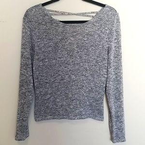 H & M Long Sleeve Grey Top